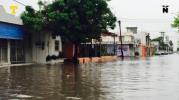 Afectan lluvias en 30 colonias