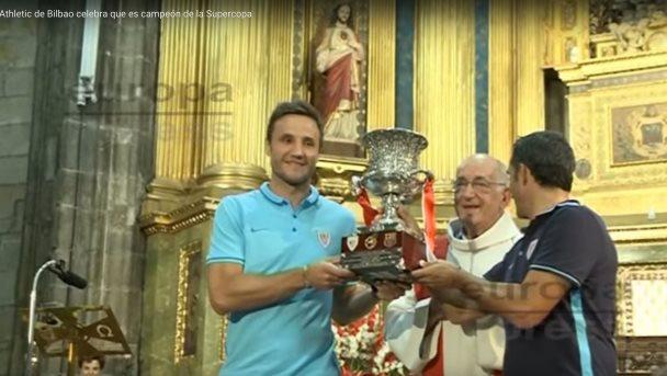 Athletic de Bilbao celebra que es campeón de la Supercopa