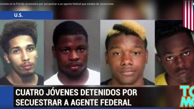 Jóvenes en la Florida arrestados por secuestrar a un agente federal que estaba de vacaciones