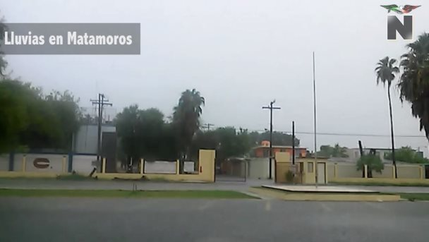 Fuertes lluvias en Matamoros