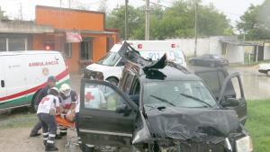 Aparatoso accidente 1 lesionada