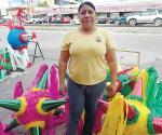Reportan bajas ventas de piñatas