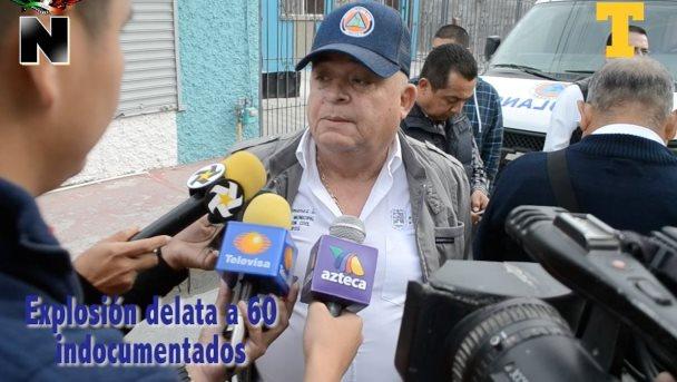 Explosio´n delata a 60 indocumentados