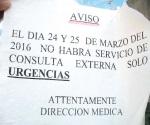 El IMSS si suspende atención y servicio a derechohabientes