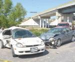 Imprudente acción y se accidenta en autopista de cobro