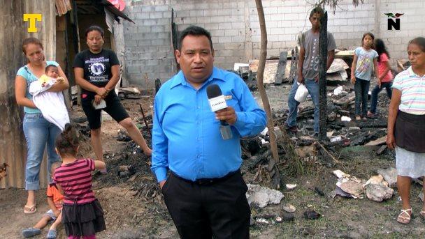 Se quemaron sus casas y lo perdieron todo