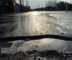 Anegaciones y enormes baches deja tormenta en 70 colonias de Reynosa