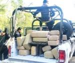 Asegura FT 430 kilos de mariguana en Mier