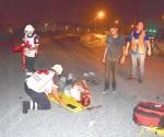 Temerarios motociclistas lesionados