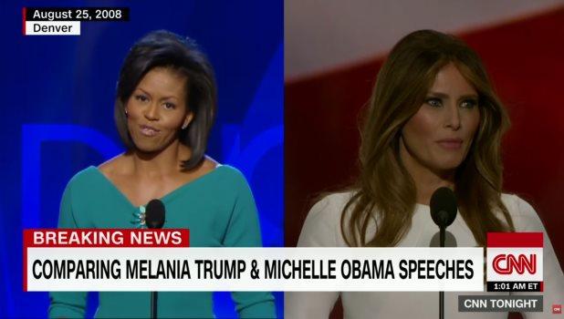 Plagia esposa de Trump discurso de Michelle Obama