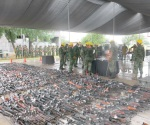 Destruyen 2,729 armas de fuego