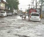 Torrencial aguacero en pocas partes de Reynosa