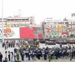 Lucido desfile de fuerzas armadas