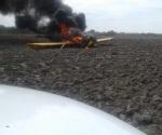 Cae avioneta; piloto calcinado