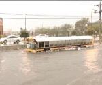 Caos y choques dejan lluvias en Reynosa