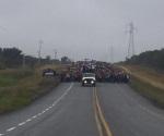 Cierran carretera contra gasolinazos en el centro de Tamaulipas