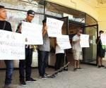 Protestan migrantes por operativos contra maras