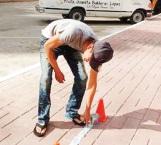 Participan estudiantes en 'kilómetro el peso'