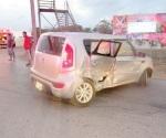 Cuatro heridos en aparatoso accidente vial