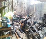 Se incendia humilde vivienda en Altamira