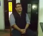 Javier Duarte se mostró sonriente durante su captura