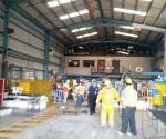 Atiende PCyB incendio en el Parque Industrial Reynosa