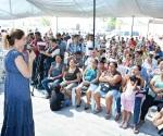 """""""Maki cambiará el rostro de Reynosa"""":  María Rosario Mejía, en audiencia  de la colonia 20 de Noviembre"""