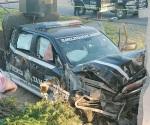 Choque deja tres policías lesionados