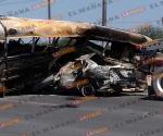 Muere calcinado en libramiento Monterrey