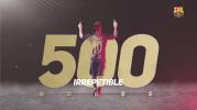 Felicitan amigos a Messi por sus 500 goles