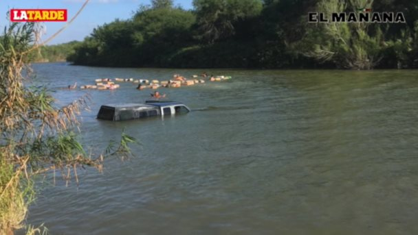 Frustran agentes ingreso a Texas de droga por río