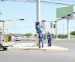 Falla caja de control de los semáforos