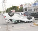 Choque descubre robo de vehículo cae conductor