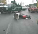Imprudente motociclista lesionado
