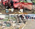 Chocan 7 vehículos en la México-Toluca