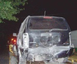 Dos lesionados en aparatoso accidente vial
