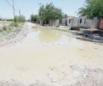 Destrozas calles por las lluvias