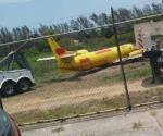 Levantan avión colapsado en Aeropuerto de Tampico