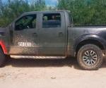 Aseguran en Nuevo Laredo camioneta 'clonada' con colores militares