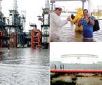 Se inunda refinería Salina Cruz, Oaxaca