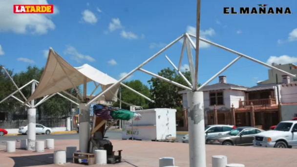 Presentan severo deterioro instalaciones de plaza