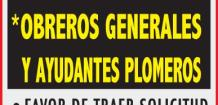 CONSTRUCTORA SOLICITA EL