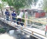 Reparan puente en la López Portillo