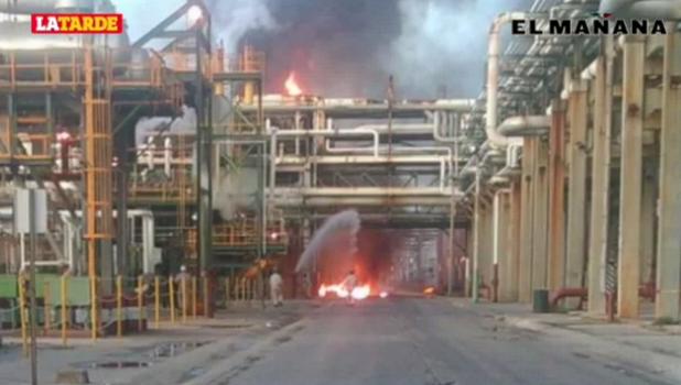 Cimbra explosión refinería y colonias