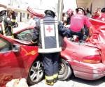 Deja choque 5 heridos