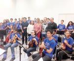 Felicita Maki Ortiz a participantes del Encuentro Juventud Sinfónica Tamaulipeca