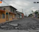 Inician rehabilitación de calle E. Canseco