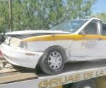 Chocan a taxista; no respetó preferencia