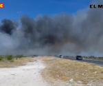 Prenden fuego otra vez a basurero Las Anacuas, en Reynosa