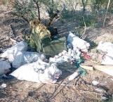 Arrojan residuos tóxicos a márgenes del dren río Bravo